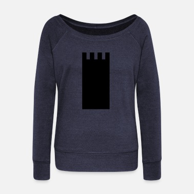 Tower tower - Women's Wide-Neck Sweatshirt