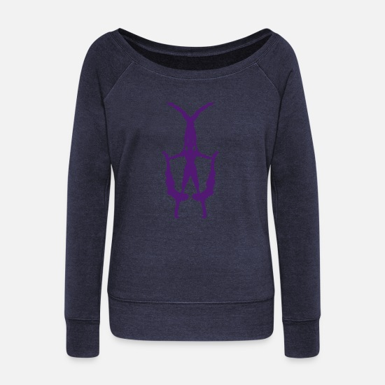 Circus Long sleeve shirts - banquine discipline circus 1 - Women's Wide-Neck Sweatshirt heather navy