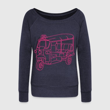 Tuk-tuk or autorickshaw - Women's Boat Neck Long Sleeve Top