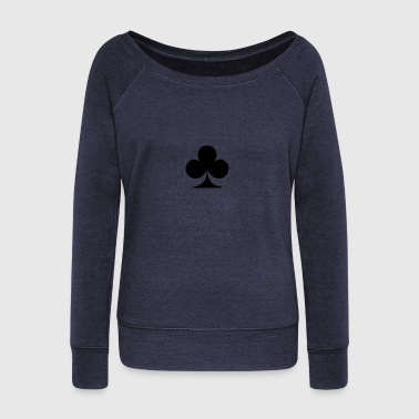 Card club - Women's Boat Neck Long Sleeve Top