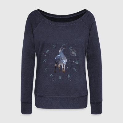capricorn universe constellation astrology sternzeic - Women's Boat Neck Long Sleeve Top
