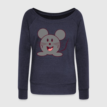 mouse - Women's Boat Neck Long Sleeve Top