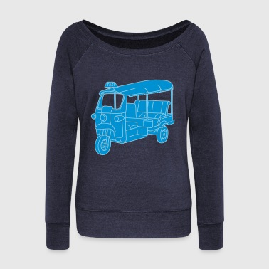 Tuk-tuk or autorickshaw 2 - Women's Boat Neck Long Sleeve Top