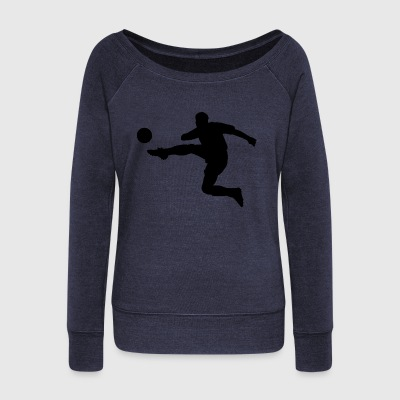 footballer - Women's Boat Neck Long Sleeve Top