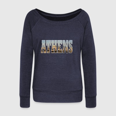 Athens Greece - Women's Boat Neck Long Sleeve Top