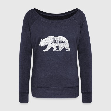 Mama Bear. Camping Gifts. Wildlife Mama Bear. Sale - Women's Boat Neck Long Sleeve Top