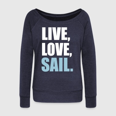 sailing - Women's Boat Neck Long Sleeve Top