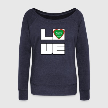 Love Land Roots Saudi Arabia - Women's Boat Neck Long Sleeve Top