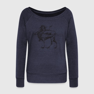 griffin - Women's Boat Neck Long Sleeve Top