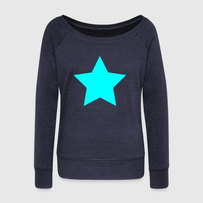star - Women's Boat Neck Long Sleeve Top