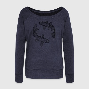 fish - Women's Boat Neck Long Sleeve Top