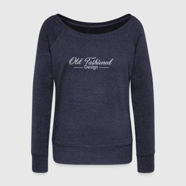 Old fashioned design - Women's Boat Neck Long Sleeve Top