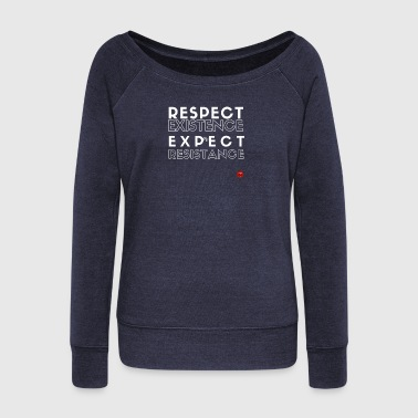 Respect - Women's Boat Neck Long Sleeve Top