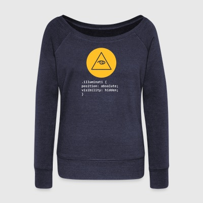 CSS Pun: Illuminati - Women's Boat Neck Long Sleeve Top