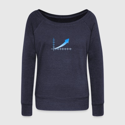 stock market - Women's Boat Neck Long Sleeve Top
