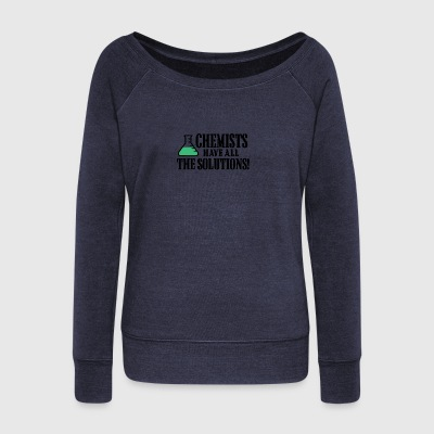 Chemists have all the solutions - Women's Boat Neck Long Sleeve Top