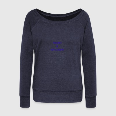 enduro is not a crime - Women's Boat Neck Long Sleeve Top