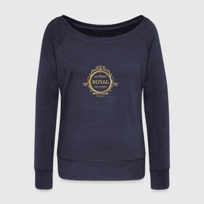 Just Be Royal. - Women's Boat Neck Long Sleeve Top