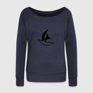 Freedom / Peace Dove - Women's Boat Neck Long Sleeve Top
