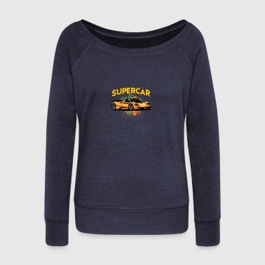Supercar - Women's Boat Neck Long Sleeve Top