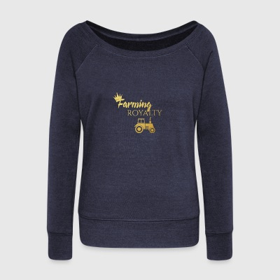 Farmer / Farmer / Bauer: Farming Royalty - Women's Boat Neck Long Sleeve Top