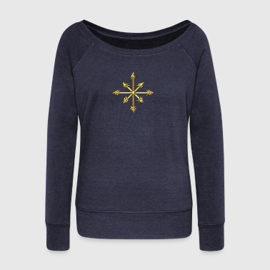 Chaos Star, Symbol of chaos, digital, everything has meaning and magic power! Power symbol, Energy symbol - Pull Femme col bateau de Bella