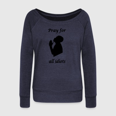 Pray for - Women's Boat Neck Long Sleeve Top