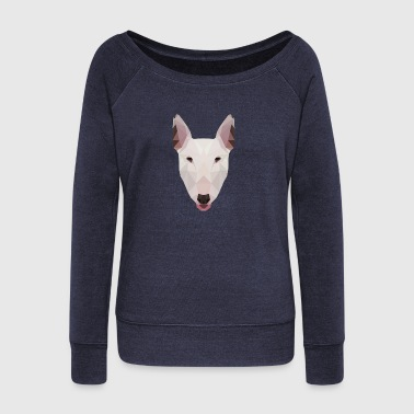 English Bull Terrier Artwork - Bluza damska Bella z dekoltem w łódkę