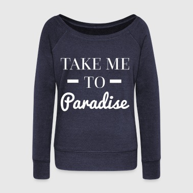 Paradise - Women's Boat Neck Long Sleeve Top