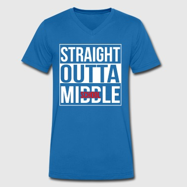 Middlesex Straight Outta Middle School - Men's Organic V-Neck T-Shirt by Stanley & Stella