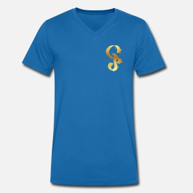 Gold Gang GANG SHOP GOLD - Men's Organic V-Neck T-Shirt by Stanley & Stella