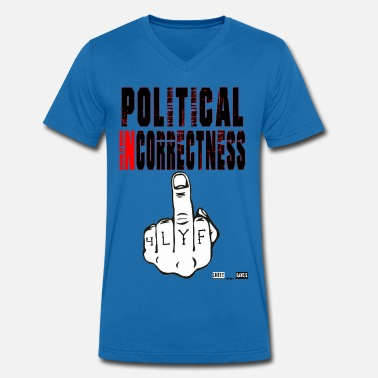 Political Issues Lokey Games Official Political Incorrectness - Men's Organic V-Neck T-Shirt by Stanley & Stella