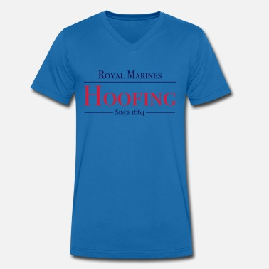 Commando Royal Marines Hoofing Since 1664 - Men's Organic V-Neck T-Shirt by Stanley & Stella