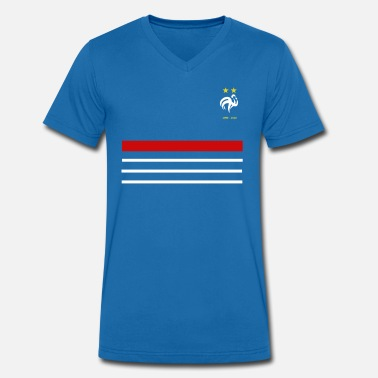 France Jersey France 98 2018 Team of France 2 stars - Men's Organic V-Neck T-Shirt by Stanley & Stella