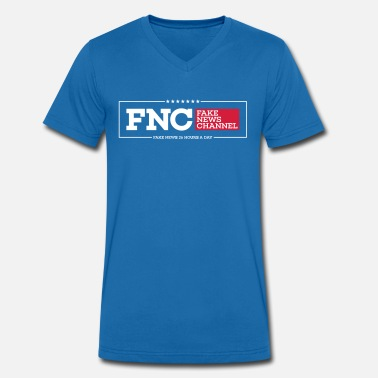 News Channel FNC Fake News Channel - Men's Organic V-Neck T-Shirt by Stanley & Stella