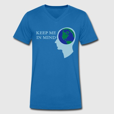 Earth - Keep me in Mind - Men's Organic V-Neck T-Shirt by Stanley & Stella