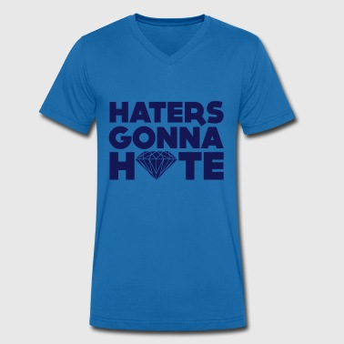 haters gonna hate - Mannen bio T-shirt met V-hals van Stanley & Stella