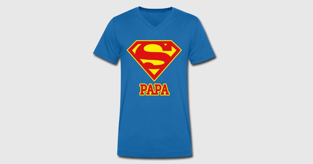 dc comics superman logo papa de superman spreadshirt. Black Bedroom Furniture Sets. Home Design Ideas
