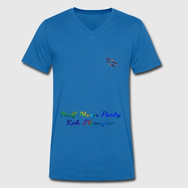 Phangan Half moon party Koh Phangan Shirts Randy Design - Men's Organic V-Neck T-Shirt by Stanley & Stella