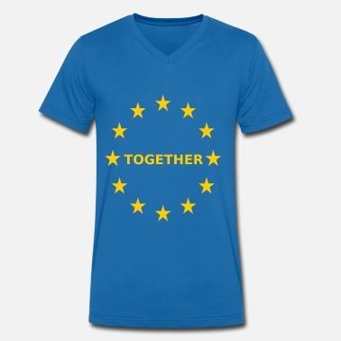 Europa EU Together Europa together - Männer Bio T-Shirt mit V-Ausschnitt