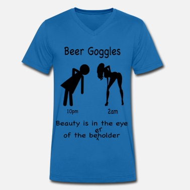 Beer Goggles Beer Goggles - Men's Organic V-Neck T-Shirt by Stanley & Stella