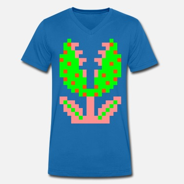 Piranha Plant - Men's Organic V-Neck T-Shirt by Stanley & Stella