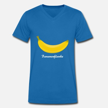 Flank Banana flank - football can be so beautiful - Men's Organic V-Neck T-Shirt by Stanley & Stella