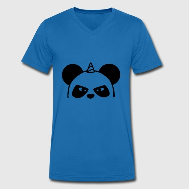 Unicorn Panda - Men's Organic V-Neck T-Shirt by Stanley & Stella