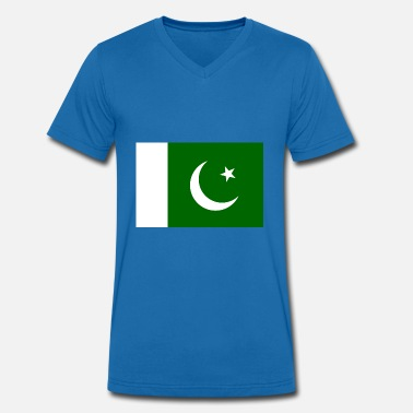 Central Asia Pakistan Flag - Men's Organic V-Neck T-Shirt by Stanley & Stella