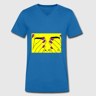 Yellow Face Face yellow - Men's Organic V-Neck T-Shirt by Stanley & Stella