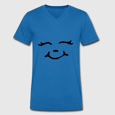 Emoticon emoticon - Men's Organic V-Neck T-Shirt by Stanley & Stella
