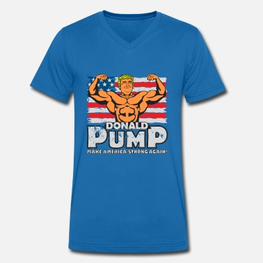 Pump Donald Pump - Make America Strong Again! colour - Men's Organic V-Neck T-Shirt by Stanley & Stella
