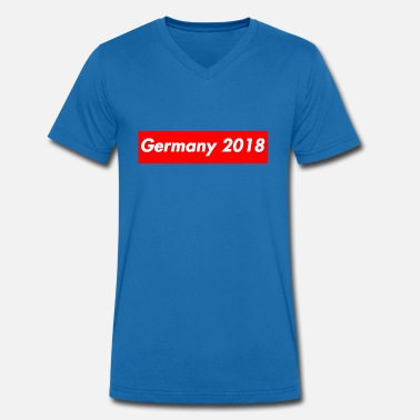 WM Germany 2018 Fanshirt Logo - Men's Organic V-Neck T-Shirt by Stanley & Stella