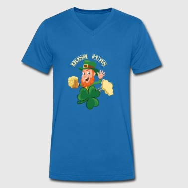 Irish pubs beer pubs - Men's Organic V-Neck T-Shirt by Stanley & Stella